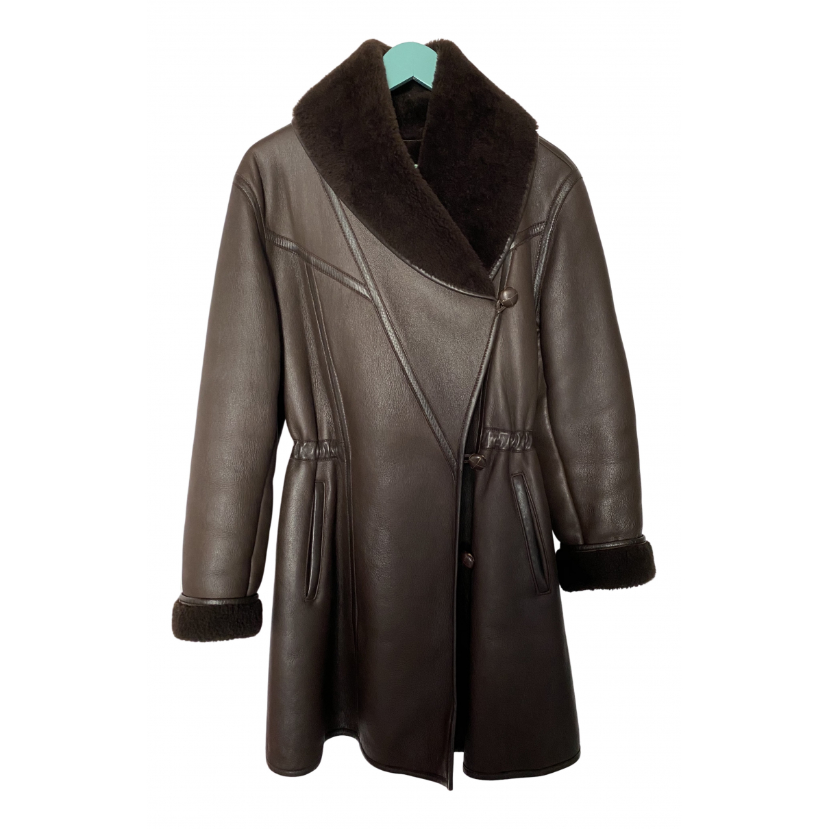 Kenzo N Brown Shearling Leather jacket for Women 38 FR