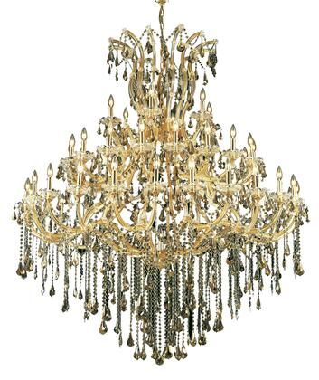 2801G60G-GT/RC 2801 Maria Theresa Collection Large Hanging Fixture D60in H72in Lt: 48+1 Gold Finish (Royal Cut Golden