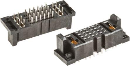 Samtec , MPSC 2mm Pitch 26 Way 4 Row Straight PCB Socket, Through Hole, Solder Termination