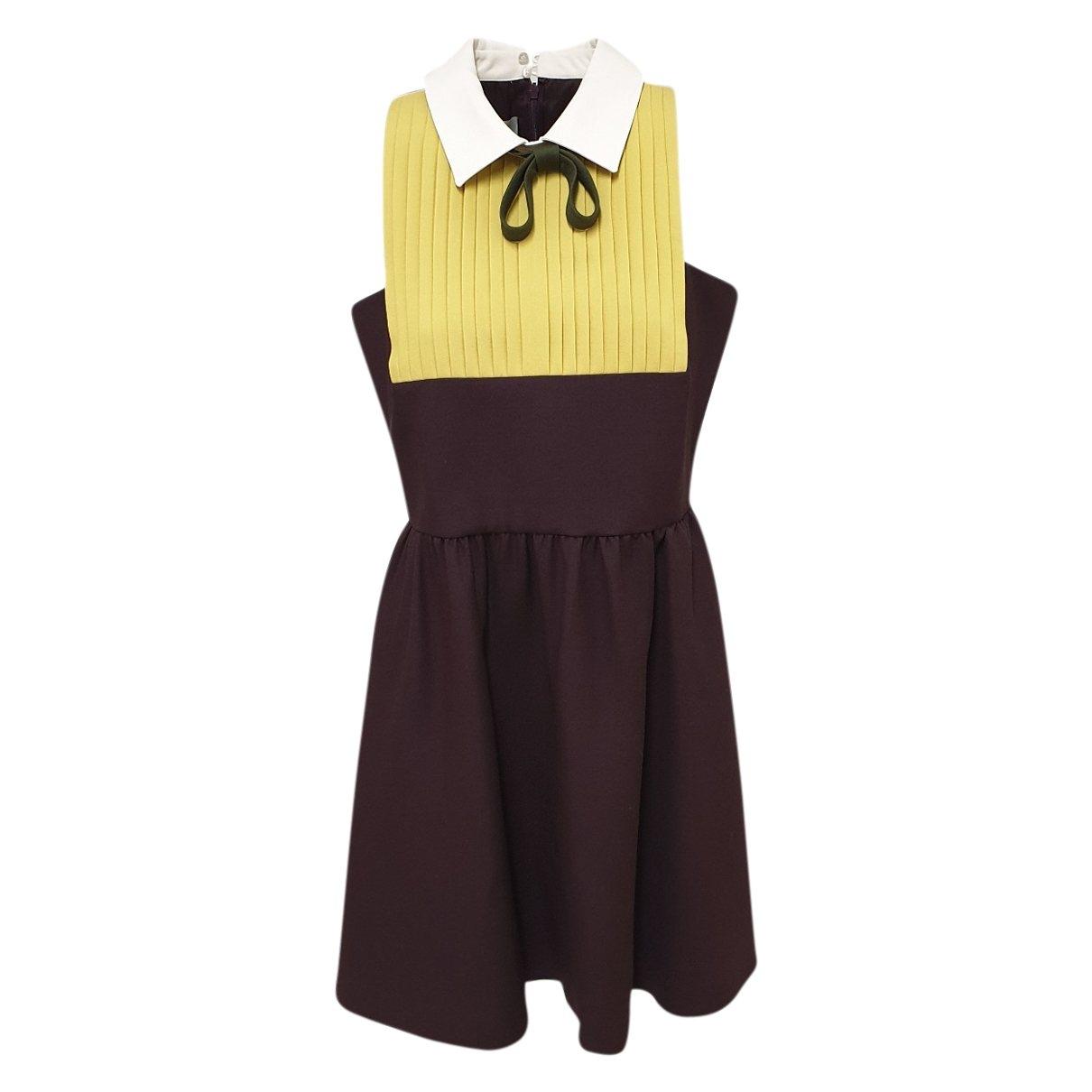 Valentino Garavani \N Kleid in  Bordeauxrot Wolle