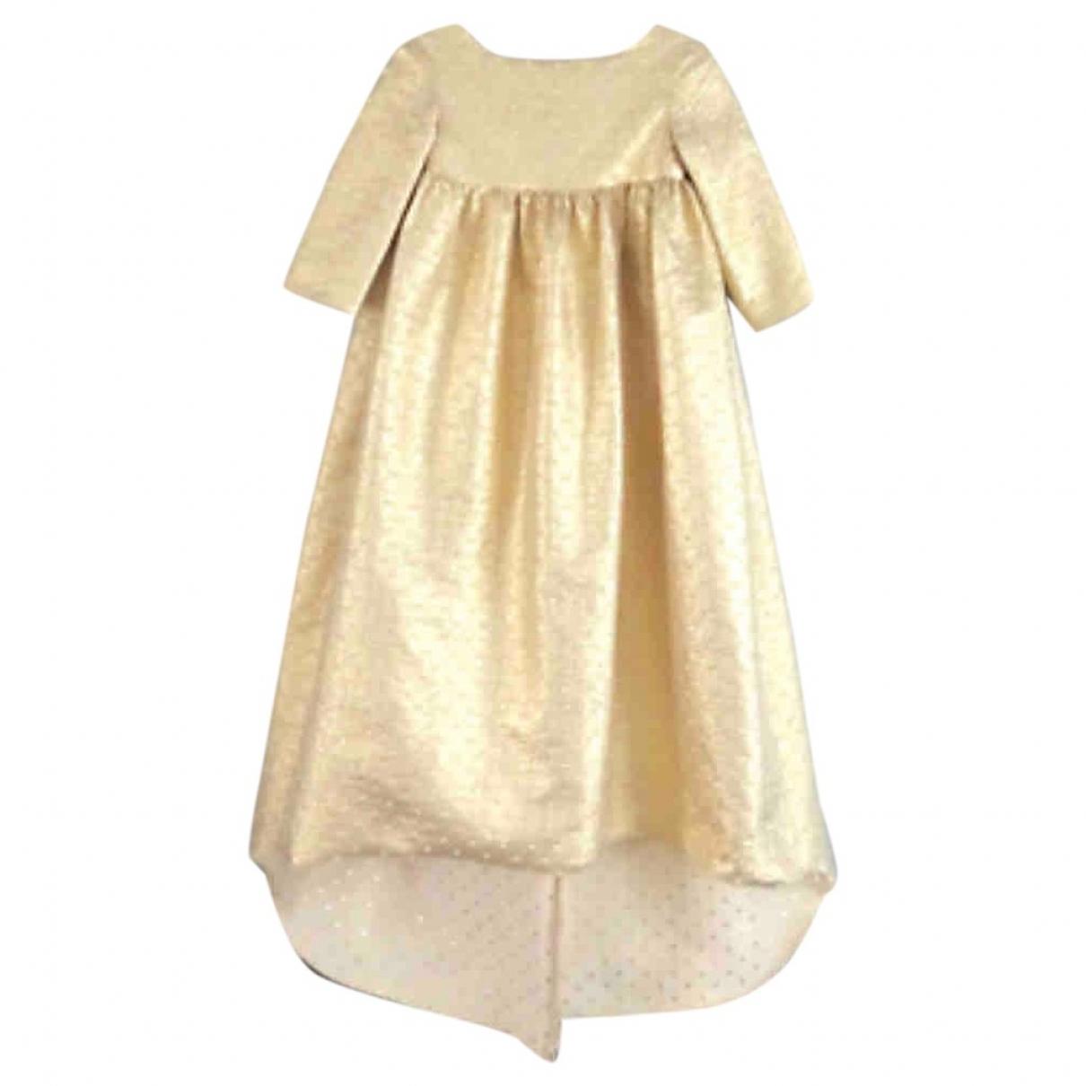 Bonpoint \N Kleid in  Gold Synthetik