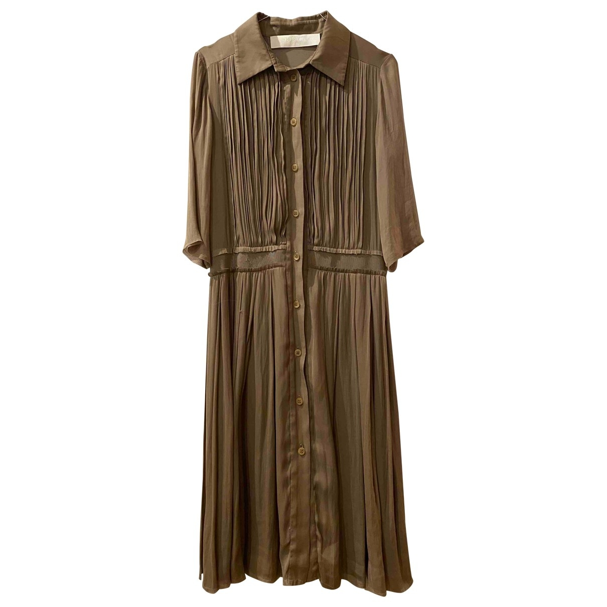 Lanvin \N Kleid in  Beige Polyester