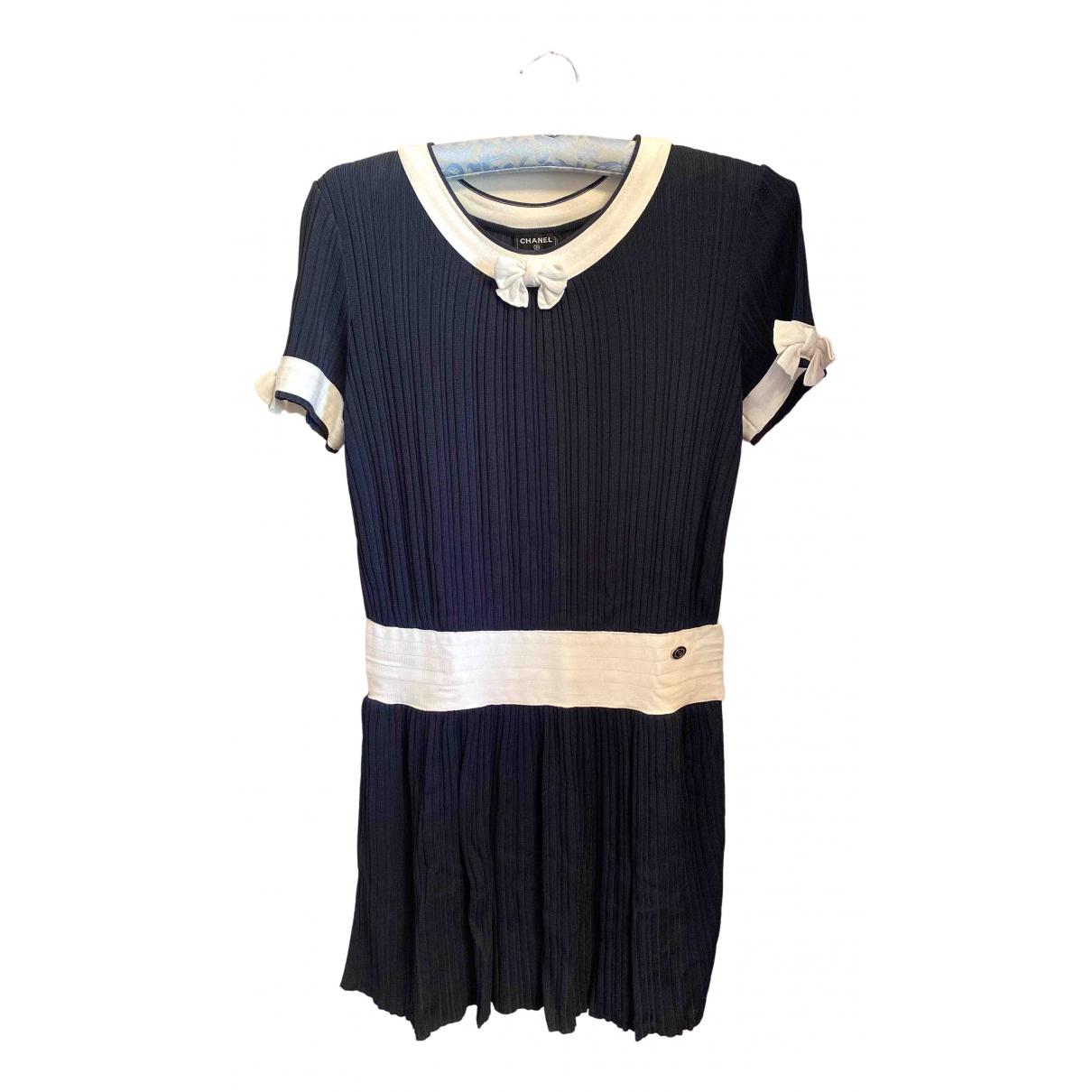 Chanel \N Navy dress for Women 36 FR