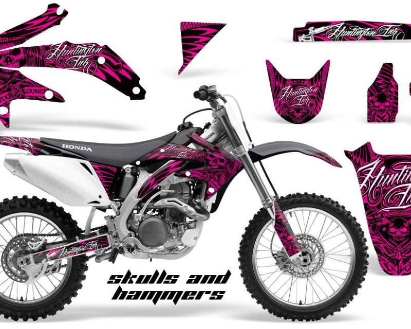 AMR Racing Dirt Bike Graphics Kit Decal Sticker Wrap For Honda CRF450R 2005-2008áHISH PINK