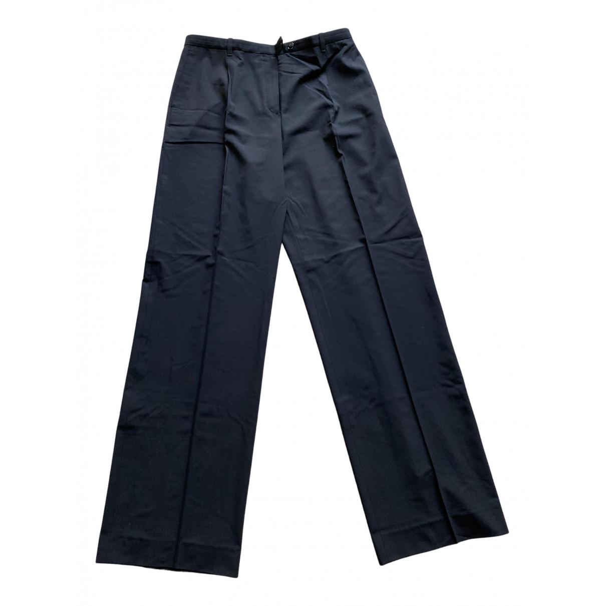 Hermes - Pantalon   pour femme en laine - noir