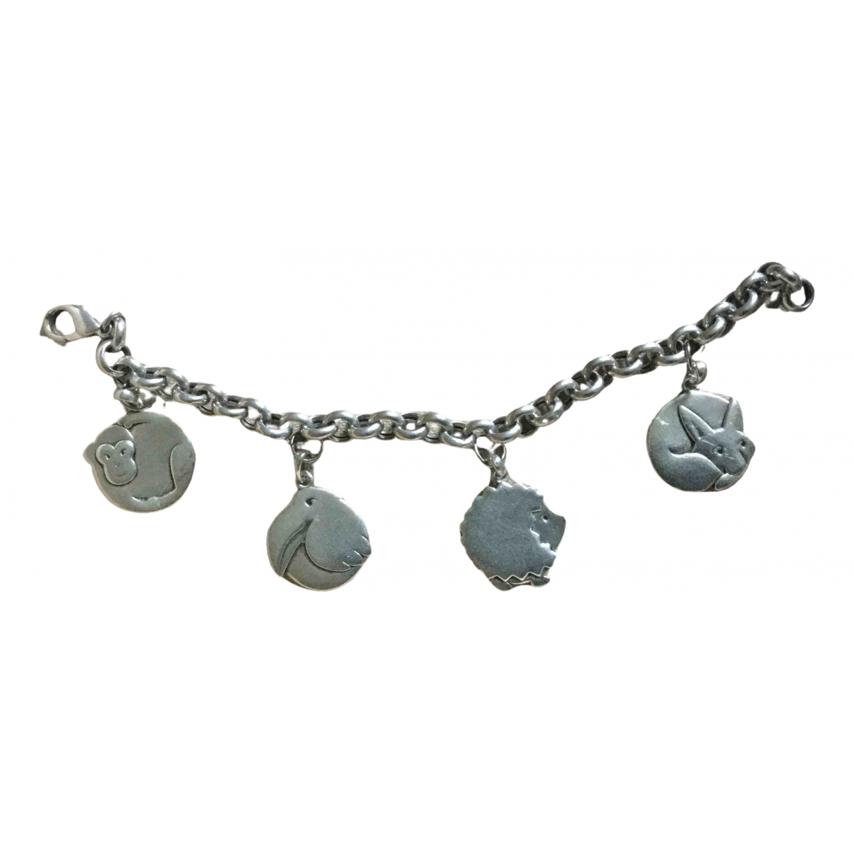 Non Signe / Unsigned Chaines Armband in  Silber Silber