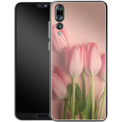 Huawei P20 Pro Silikon Handyhuelle - Pink Tulips von Joy StClaire
