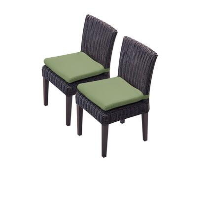 TKC094b-ADC-C-CILANTRO 2 Venice Armless Dining Chairs with 2 Covers: Wheat and