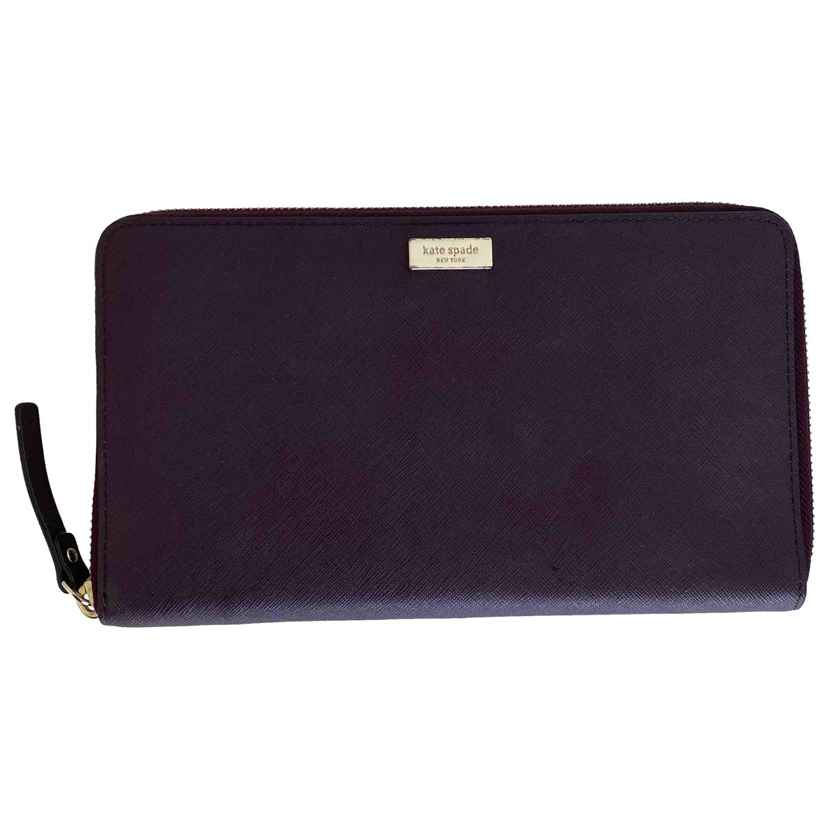 Kate Spade - Portefeuille   pour femme en cuir - violet
