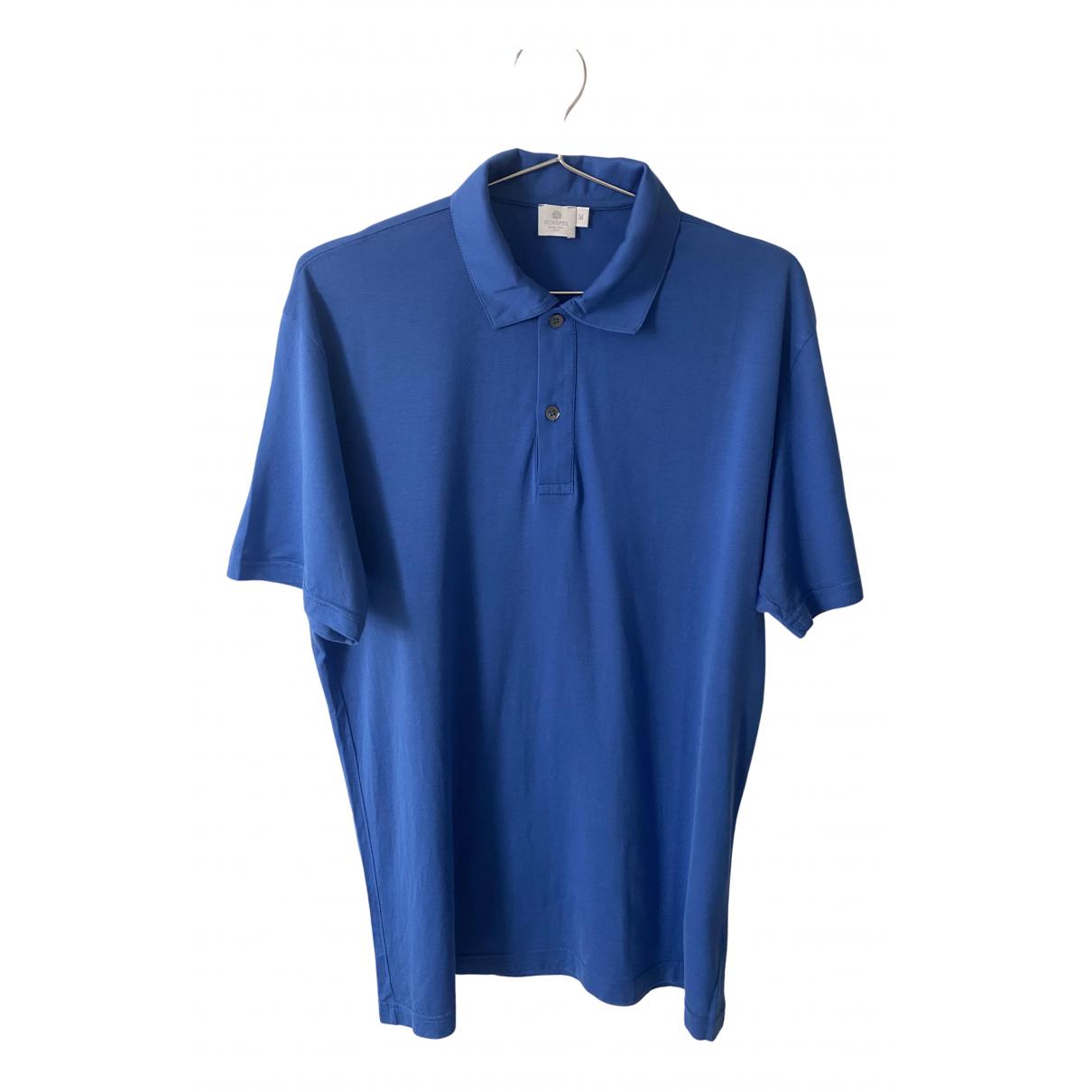 Polo en Algodon Azul Sunspel