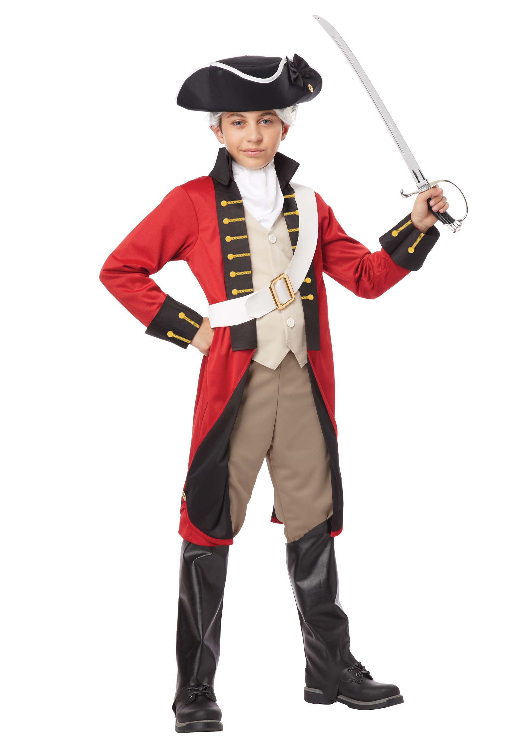 British Redcoat Costume for Boys