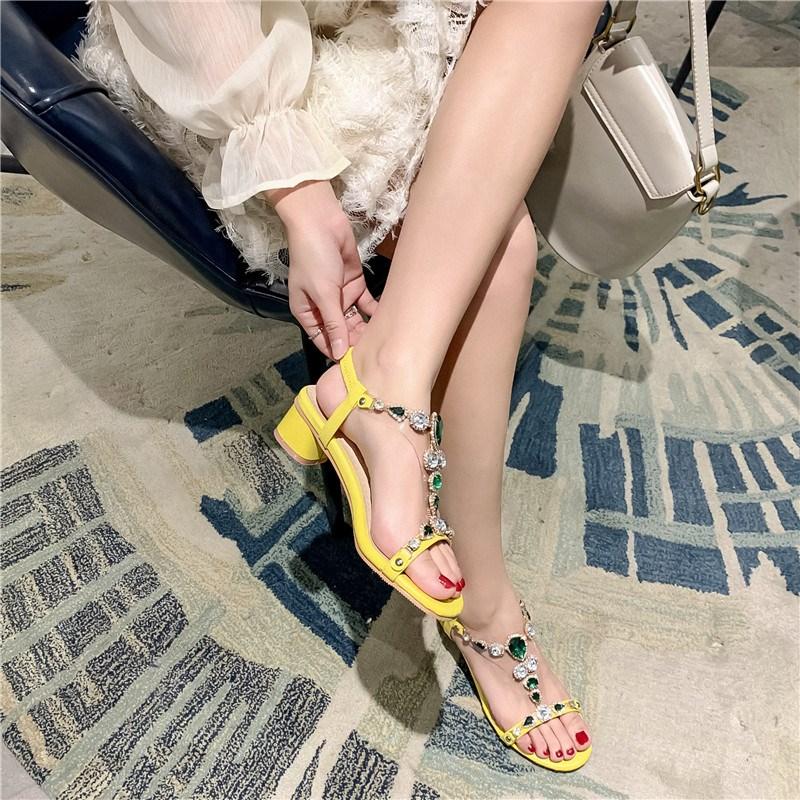 Ericdress Open Toe Slip-On Block Heel Low-Cut Upper Sandals