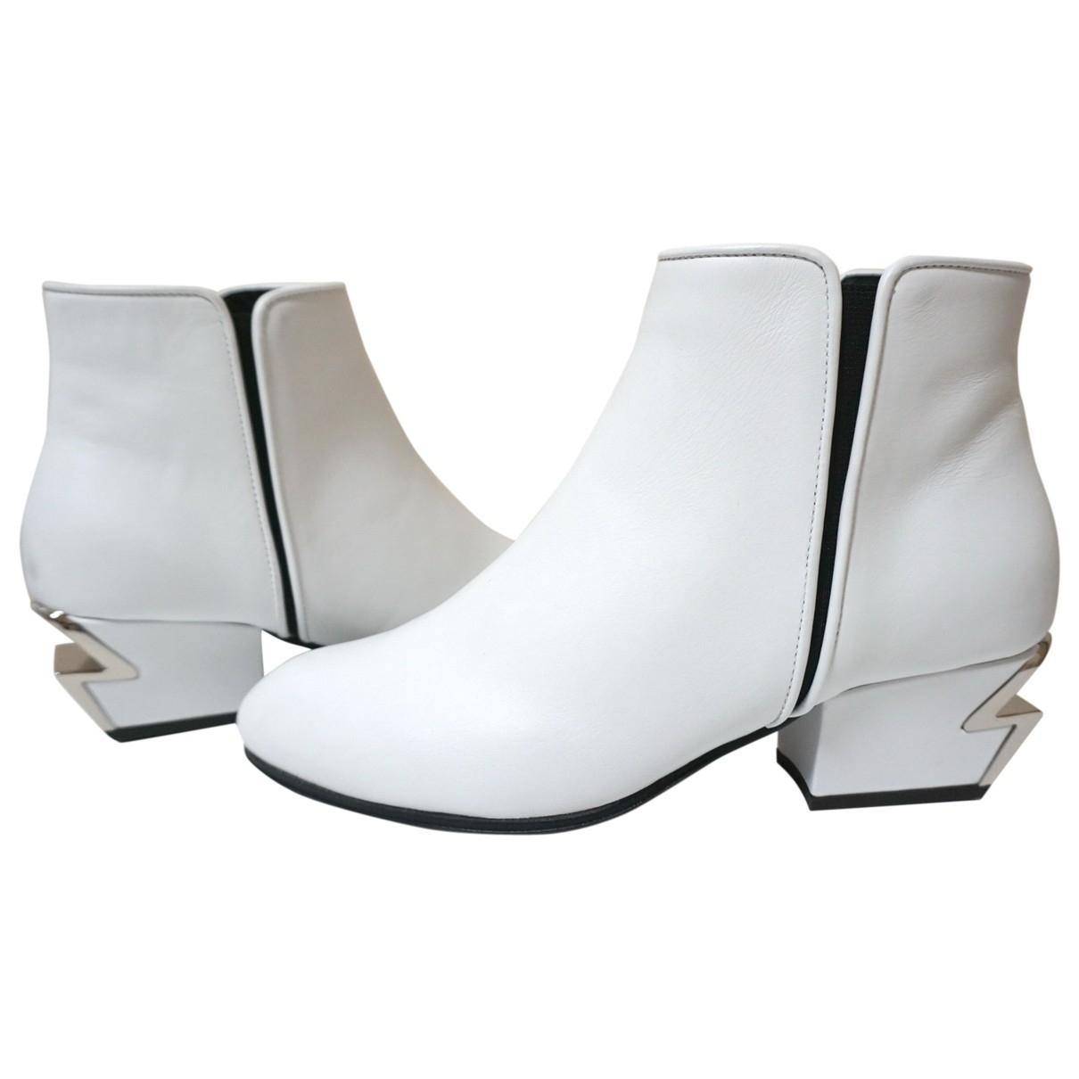 Giuseppe Zanotti - Bottes   pour femme en cuir - blanc