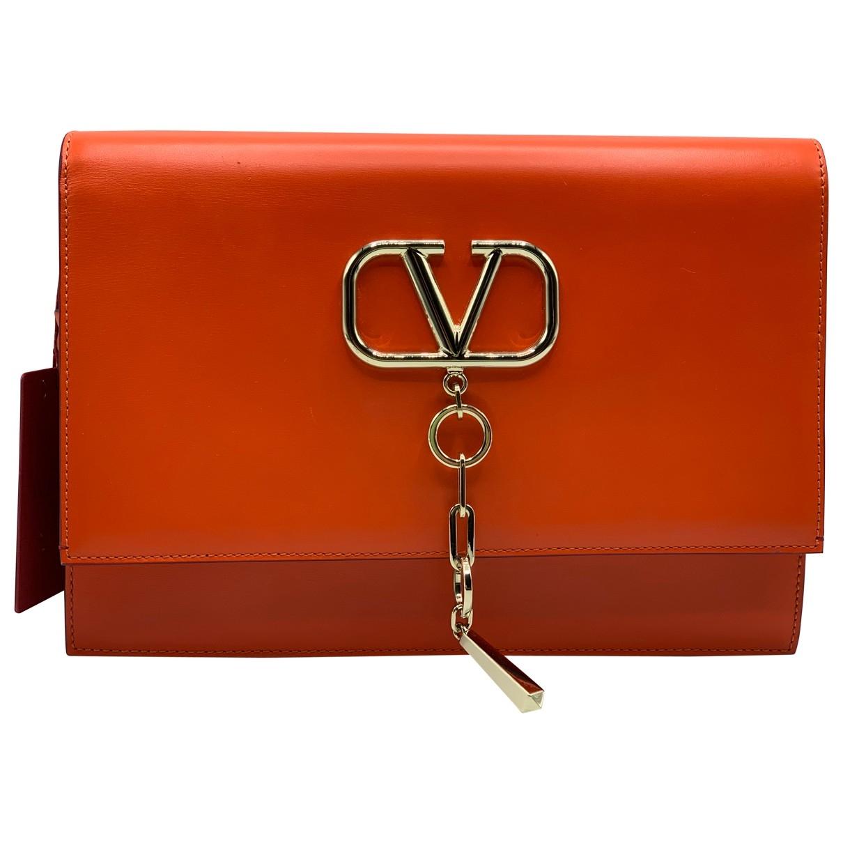 Valentino Garavani - Sac a main Vring pour femme en cuir - orange
