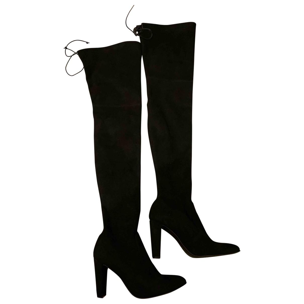 Stuart Weitzman \N Black Suede Boots for Women 8 US
