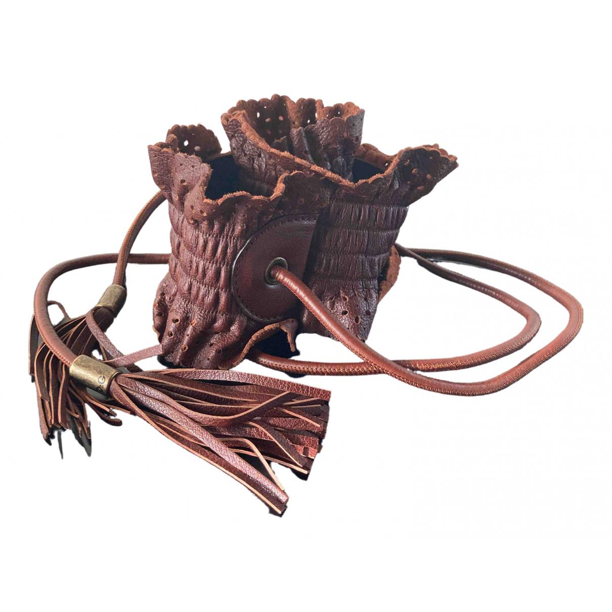 D&g \N Brown Leather belt for Women 70 cm