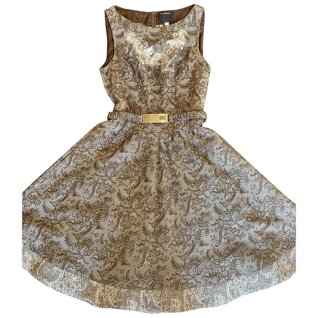 Roberto Cavalli \N Brown Wool dress for Women 46 IT