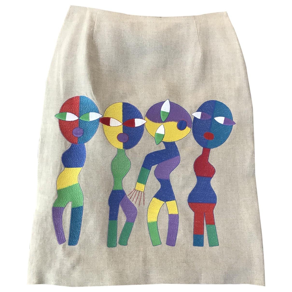 Non Signé / Unsigned \N Multicolour Linen skirt for Women 38 FR