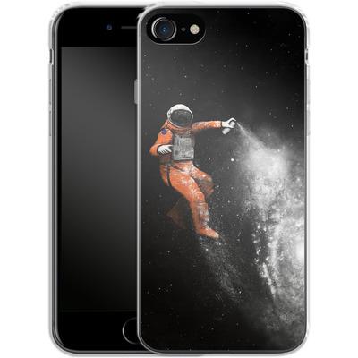 Apple iPhone 7 Silikon Handyhuelle - Space Astronaut von Florent Bodart