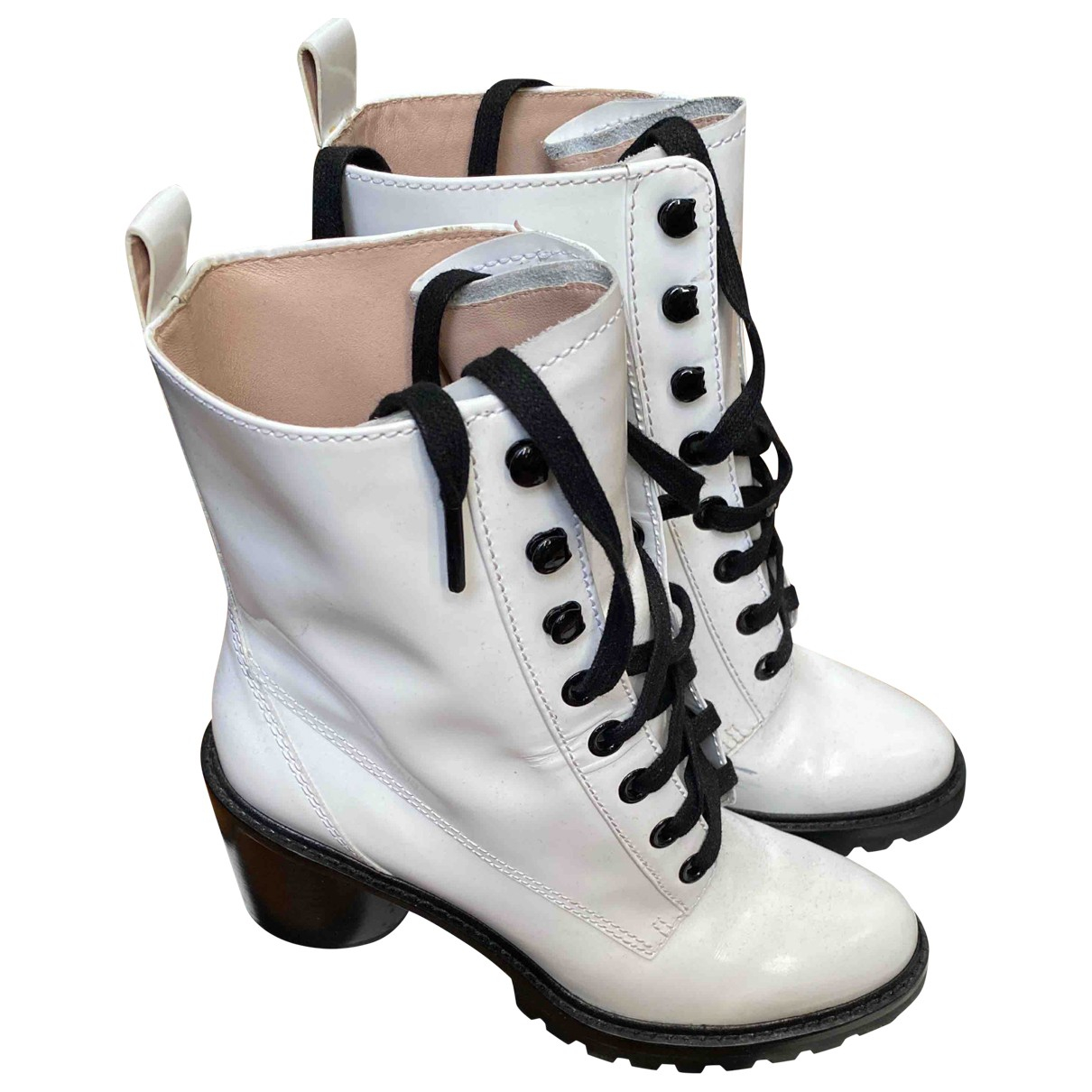 Marc Jacobs \N White Patent leather Boots for Women 39 EU
