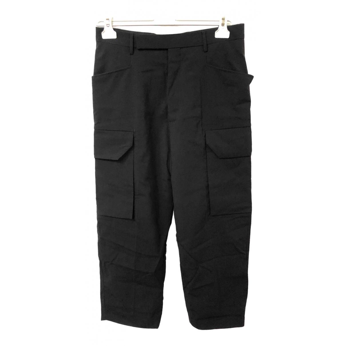 Rick Owens \N Black Wool Trousers for Women 42 IT