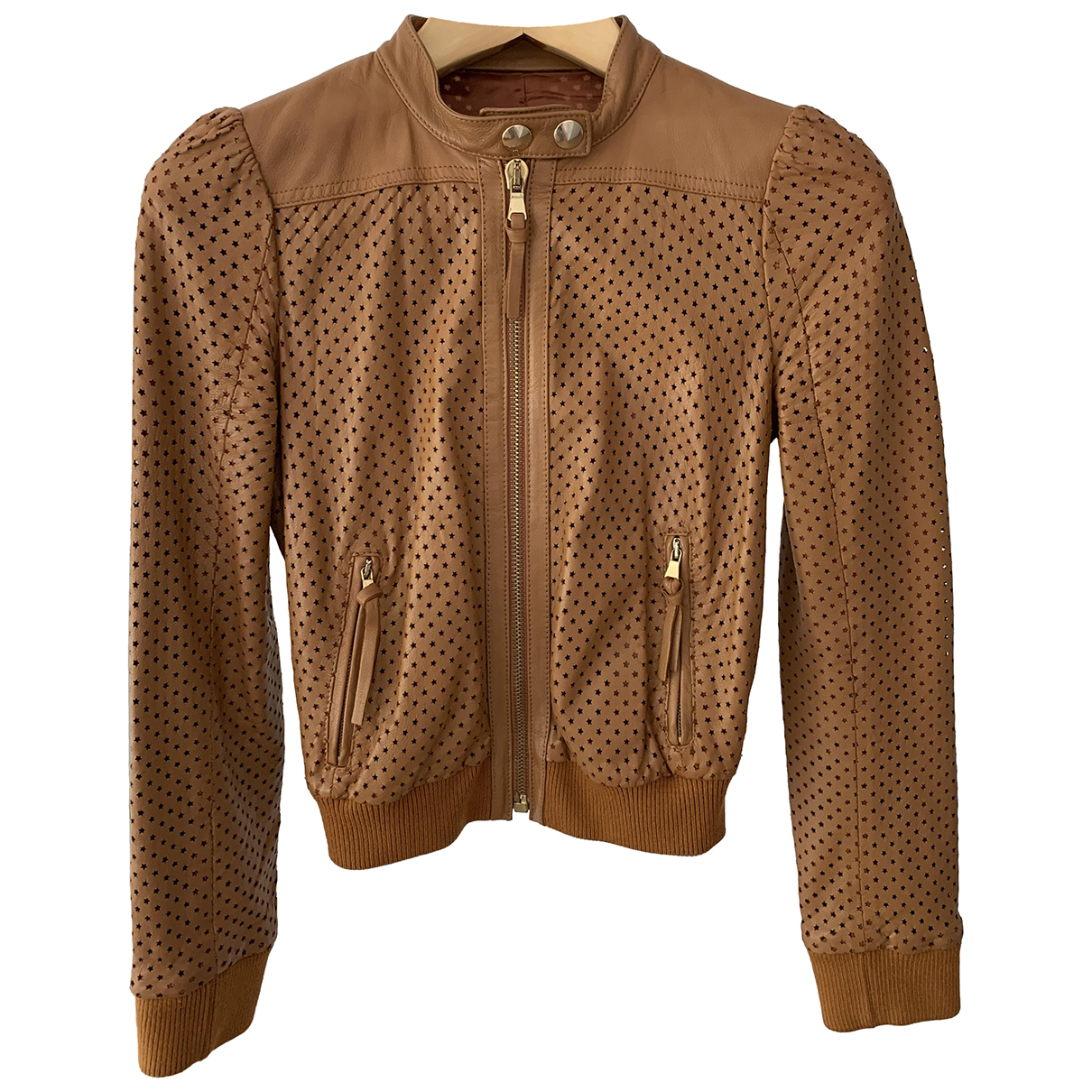 Red Valentino Garavani N Brown Leather jacket for Women 40 IT