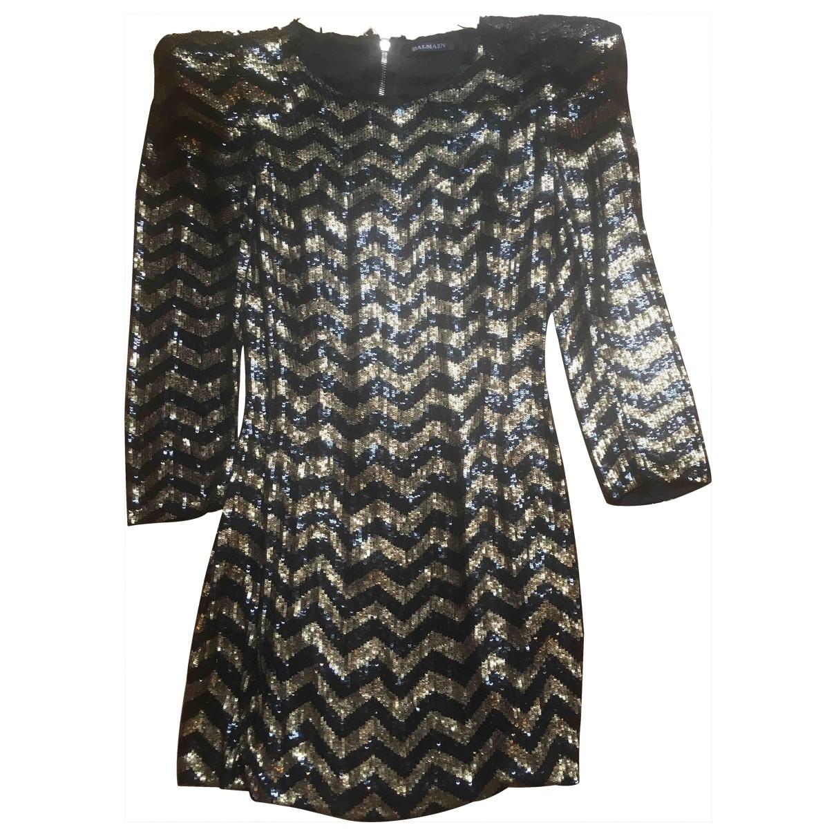Balmain - Robe   pour femme en soie - dore