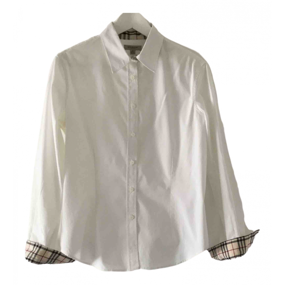 Burberry \N White Cotton  top for Women XL International