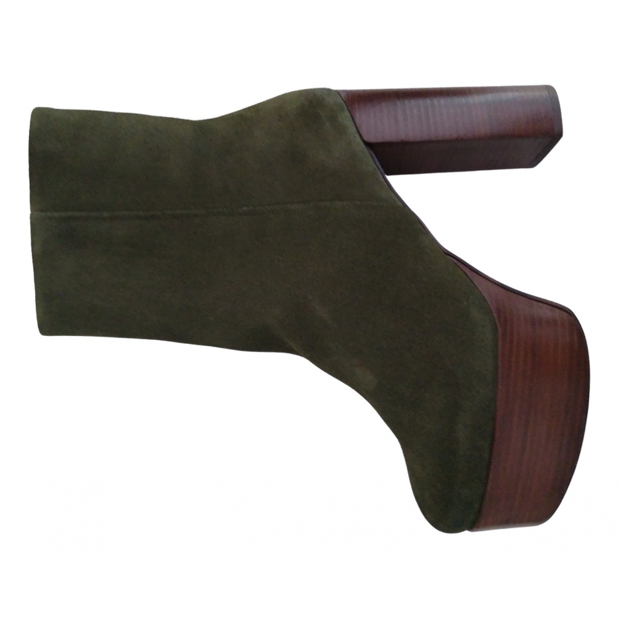 Free People \N Green Suede Boots for Women 40 EU