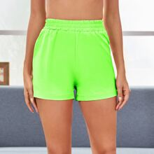 Neon Lime Sports Shorts