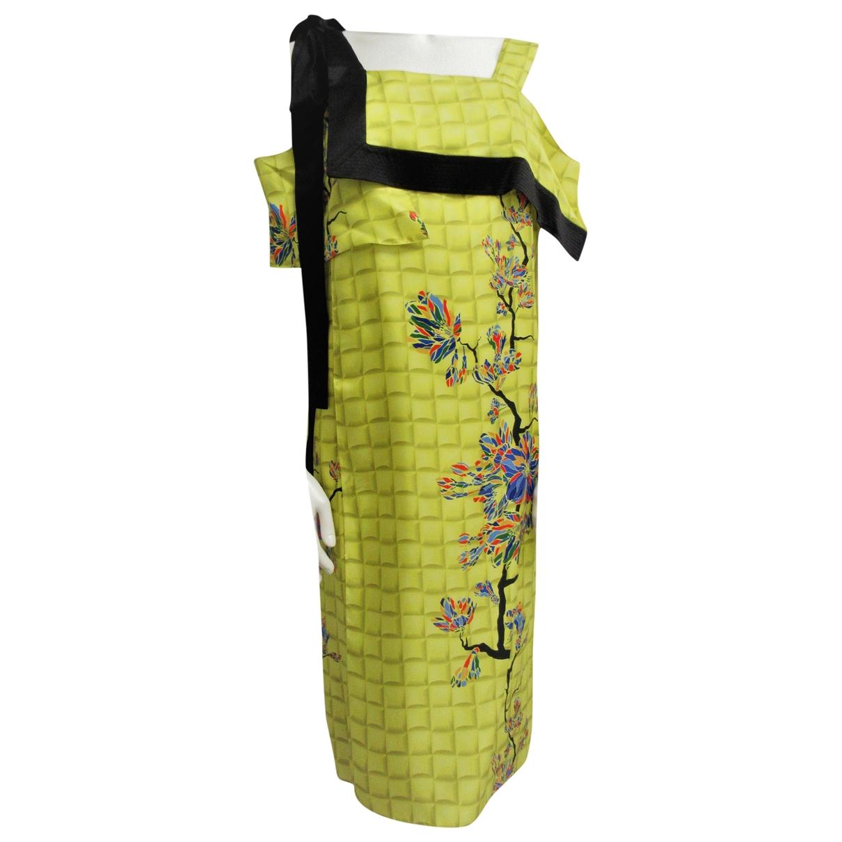 Vionnet - Robe   pour femme en soie - jaune