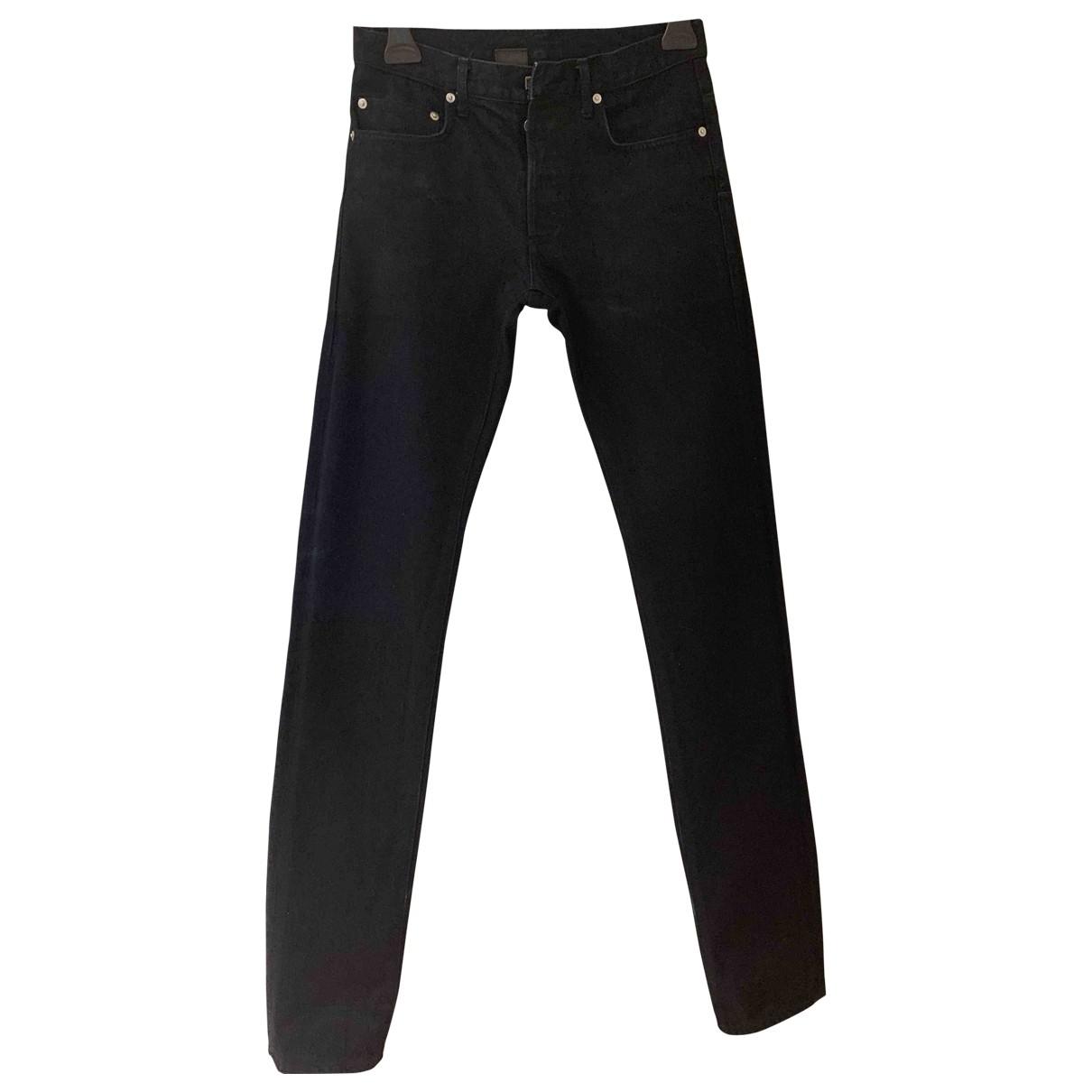 Dior Homme \N Navy Cotton Jeans for Men 28 US