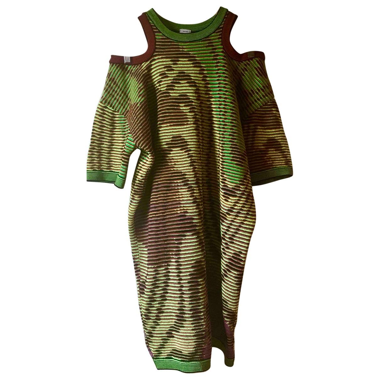 M Missoni \N Kleid in  Khaki Baumwolle
