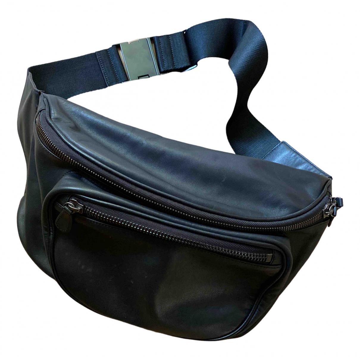 Maison Martin Margiela Pour H&m \N Black Leather backpack for Women \N