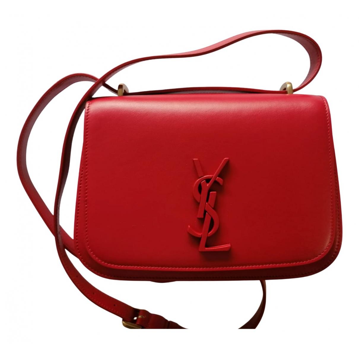 Saint Laurent - Sac a main   pour femme en cuir - rouge