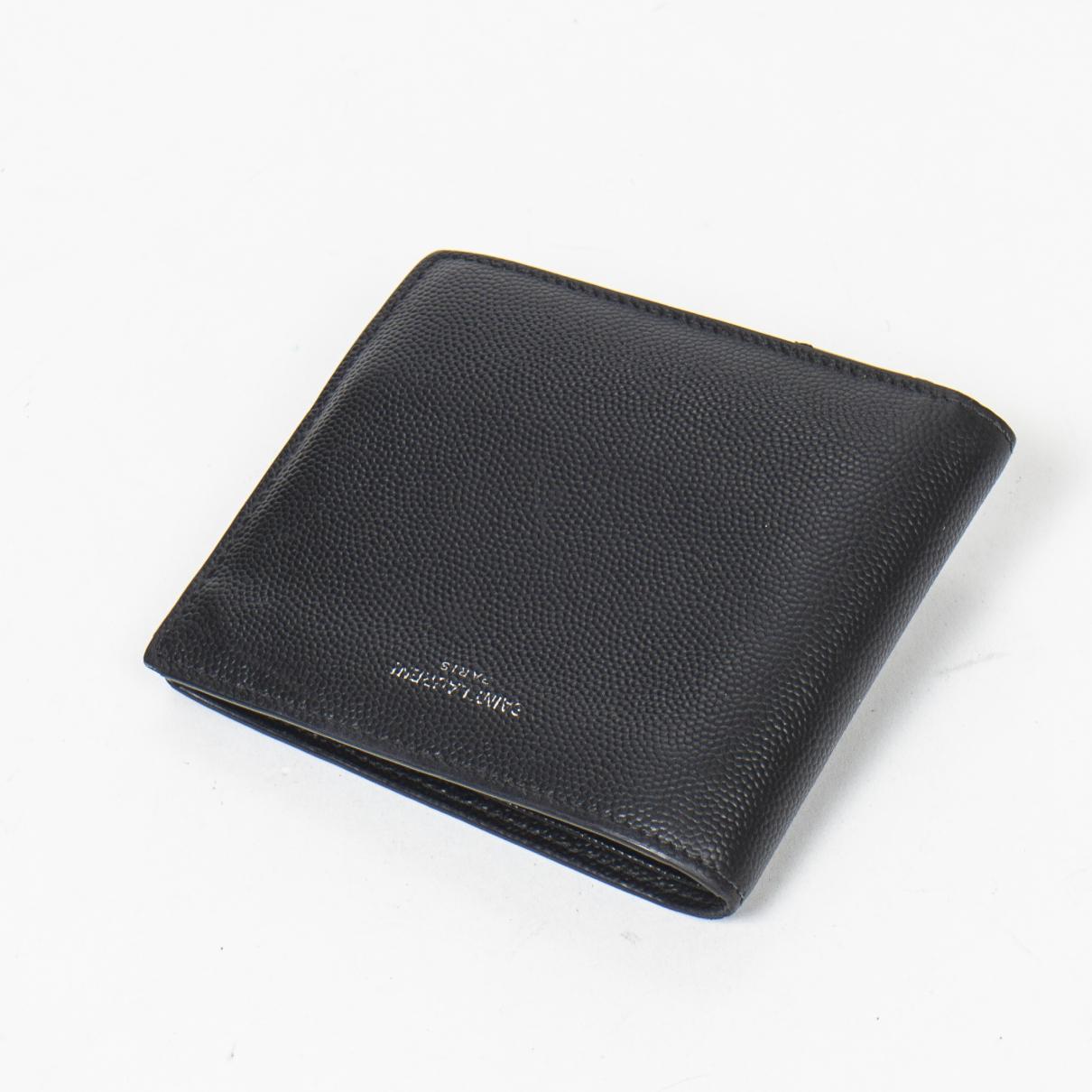 Yves Saint Laurent - Portefeuille   pour femme en cuir - noir