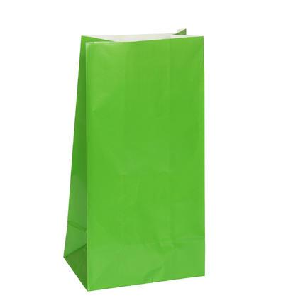 Sacs de fête en papier vert, 10