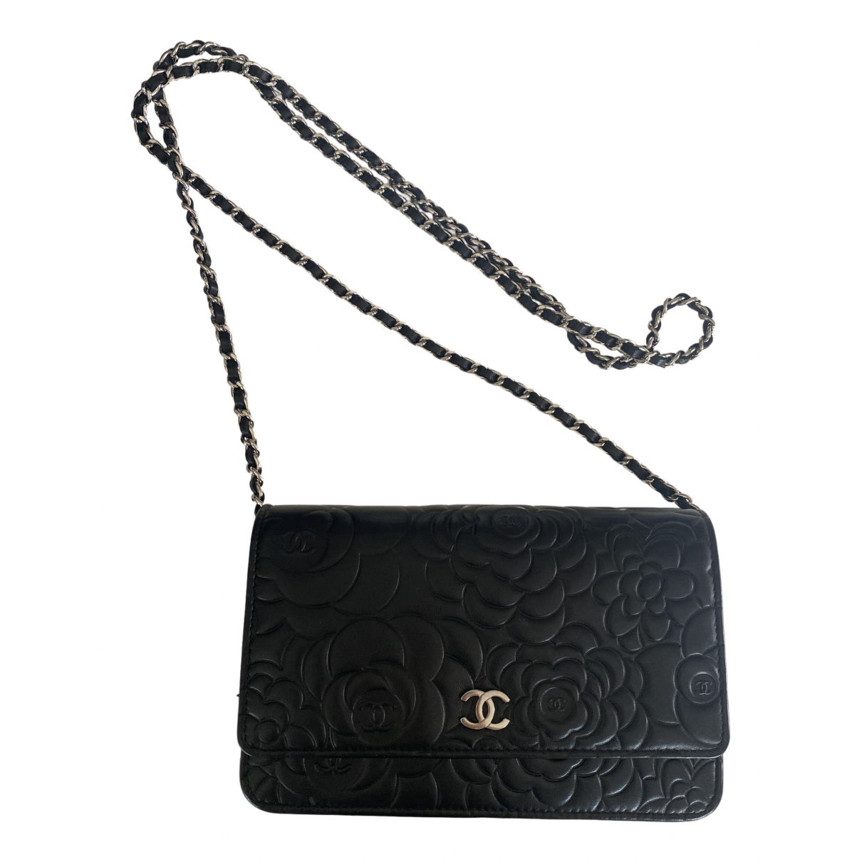 Chanel Wallet on Chain Black Leather Clutch bag for Women N