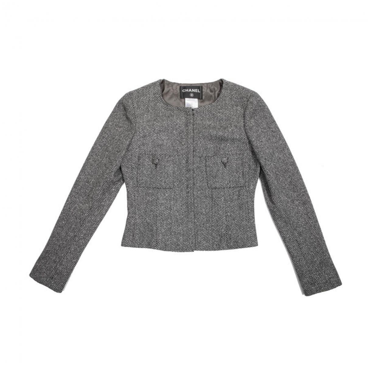 Chanel \N Grey Wool jacket for Women 38 FR
