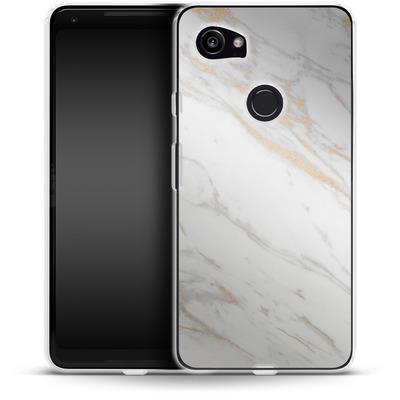 Google Pixel 2 XL Silikon Handyhuelle - Gold Marble Elegance von #basic