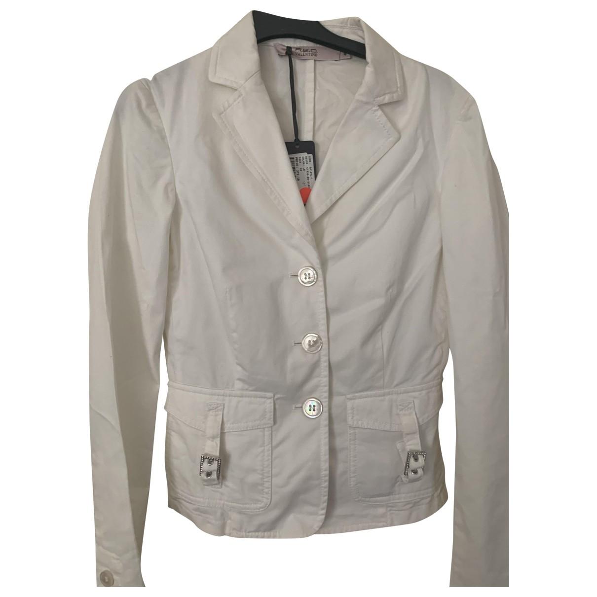 Red Valentino Garavani \N White Cotton jacket for Women 40 FR