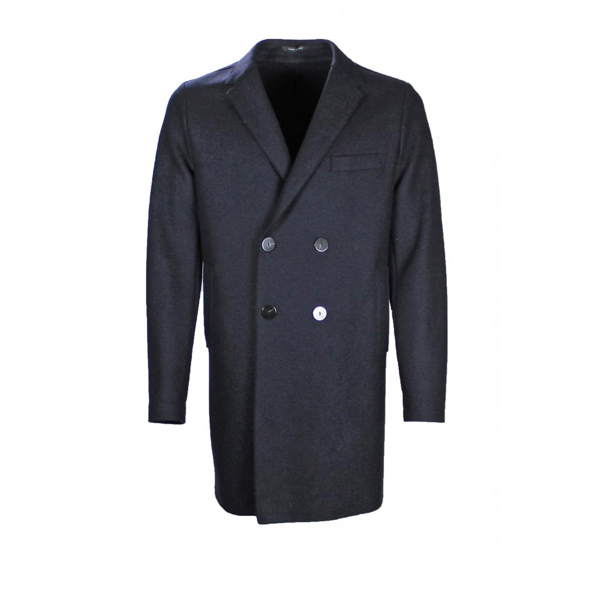 Emporio Armani \N Navy Wool coat  for Men 52 IT
