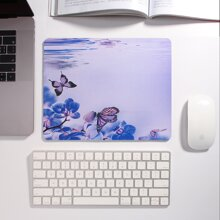 1pc Flower Print Mouse Pad
