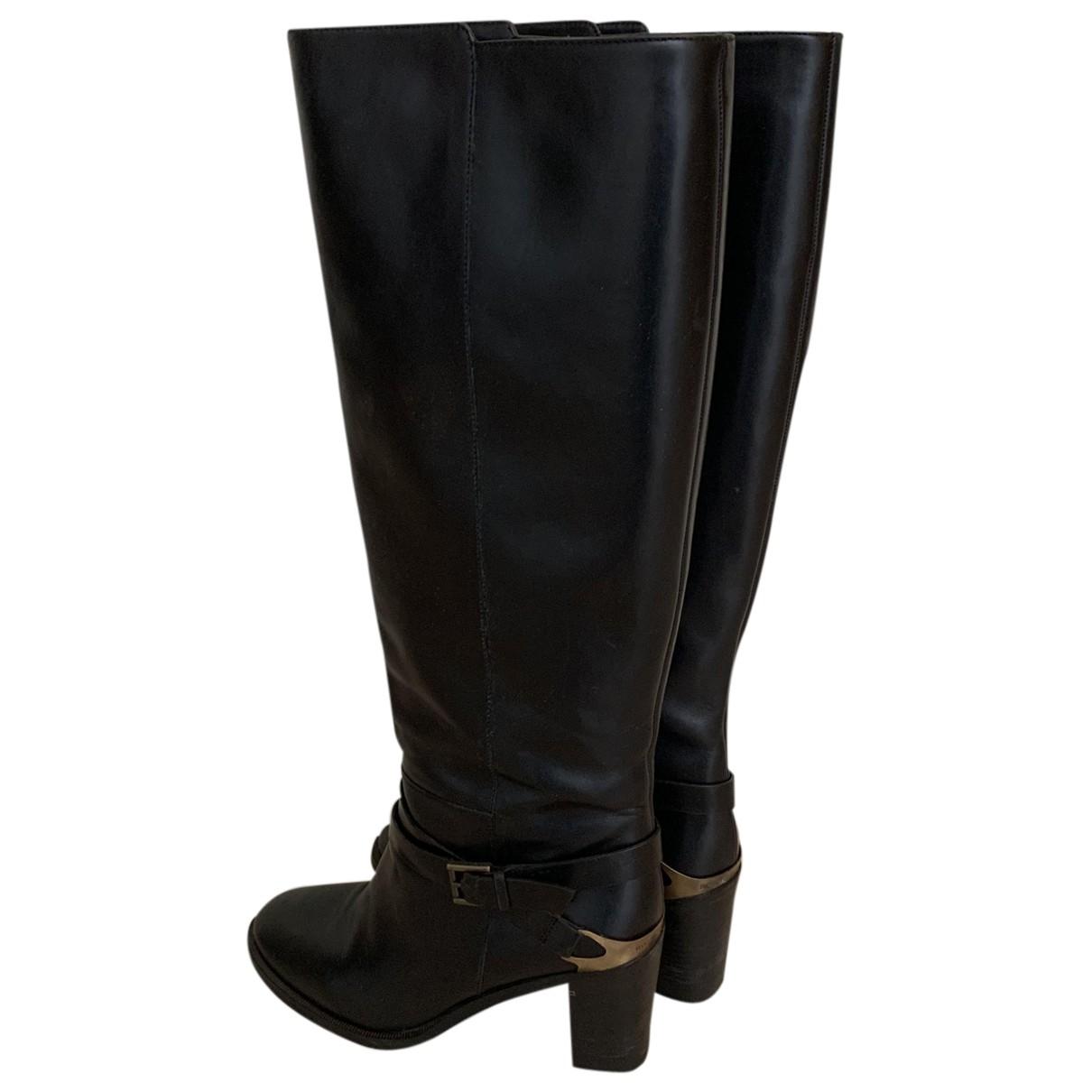 Fratelli Rossetti \N Stiefel in  Schwarz Leder