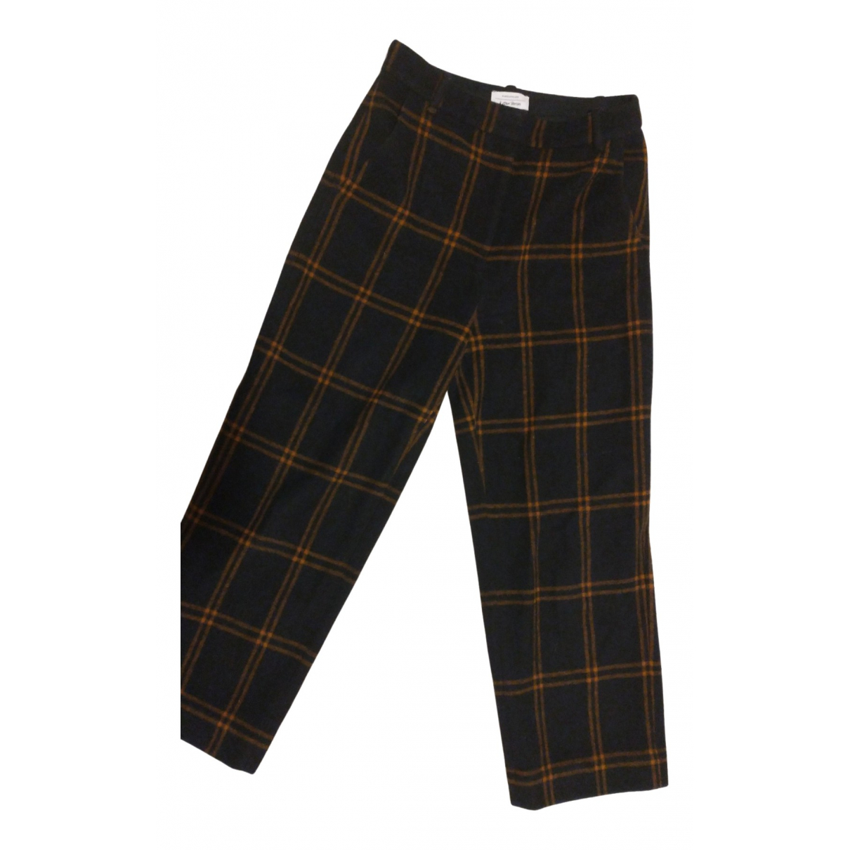& Stories N Navy Wool Trousers for Women 38 FR