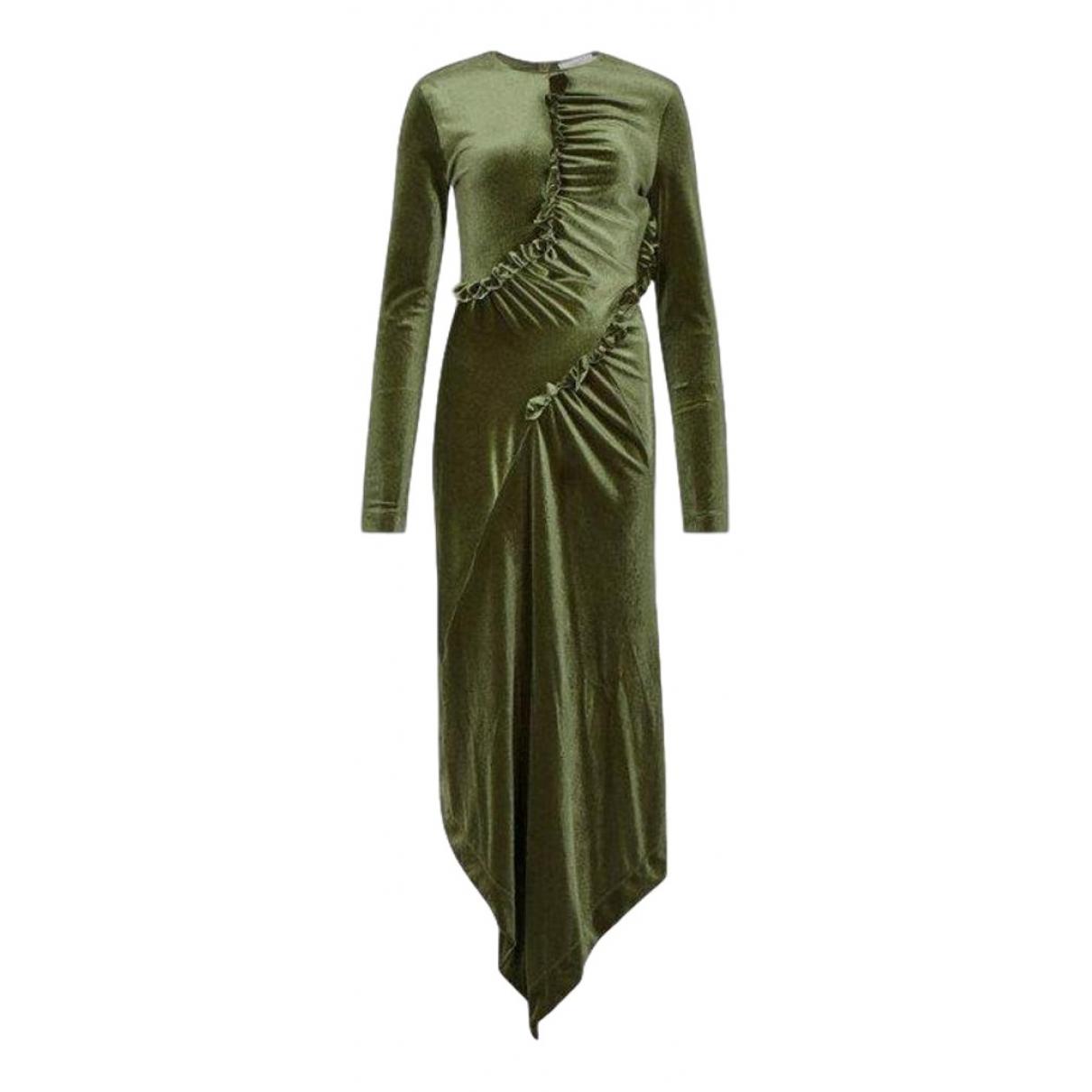 Preen By Thornton Bregazzi \N Kleid in  Gruen Polyester