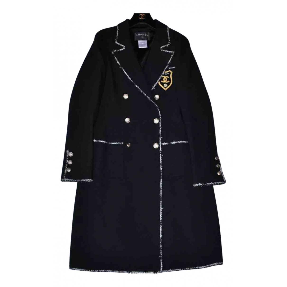 Chanel N Black Wool coat for Women 40 FR