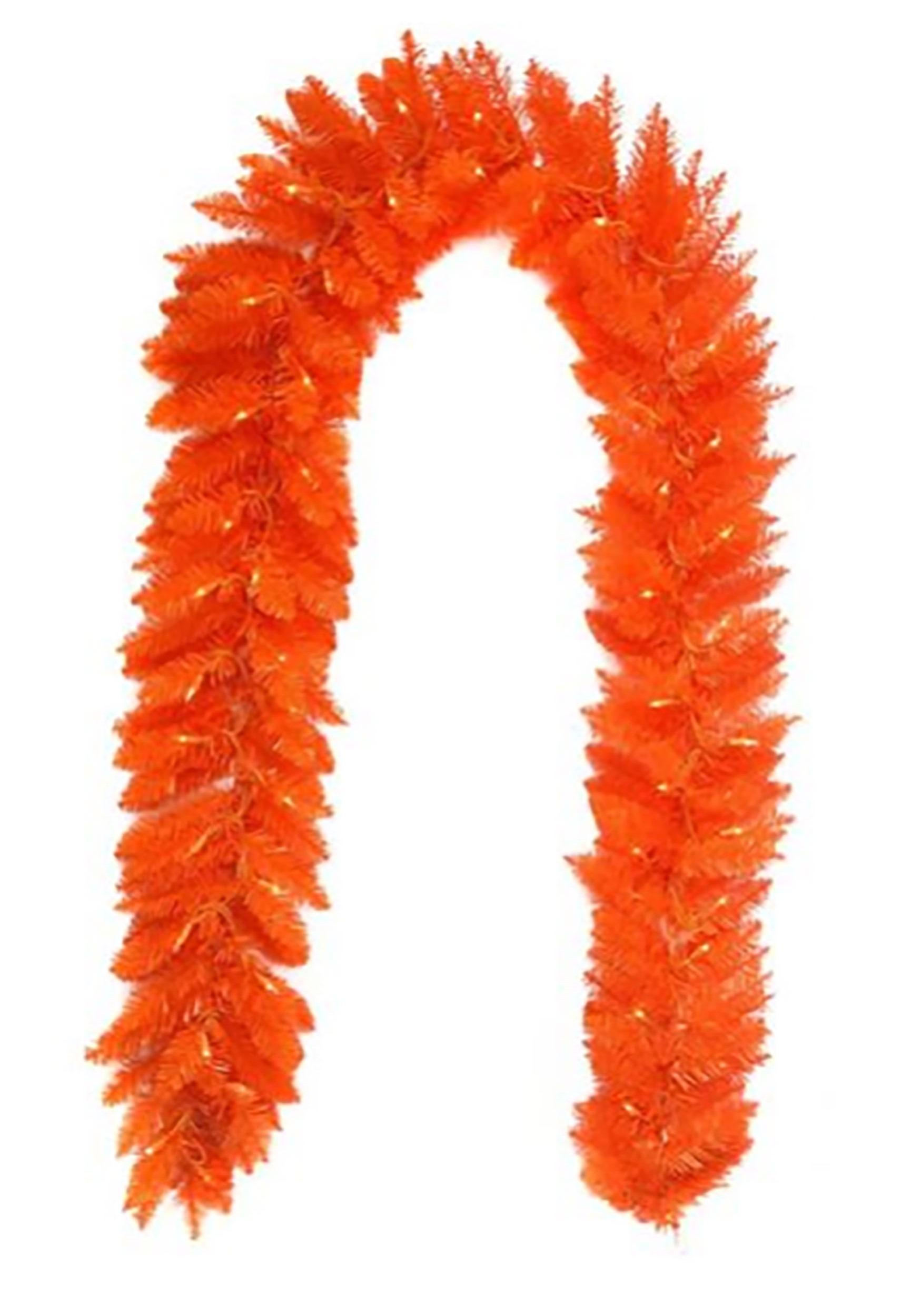 Garland-Orange Pre-lit