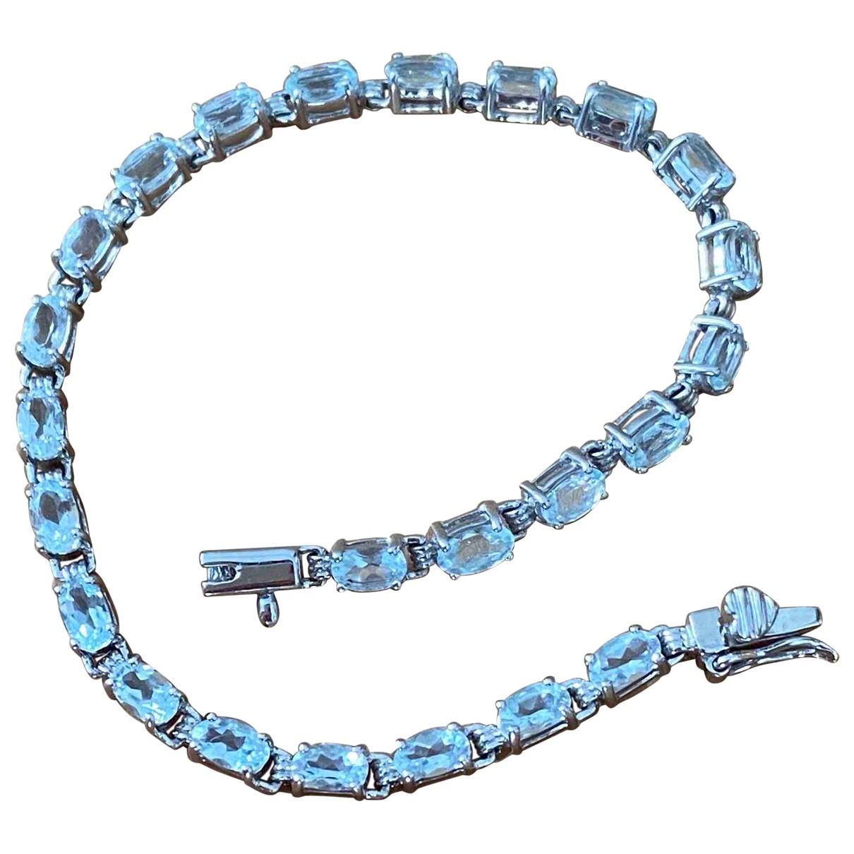 - Bracelet Aigues-Marines pour femme en or blanc - argente