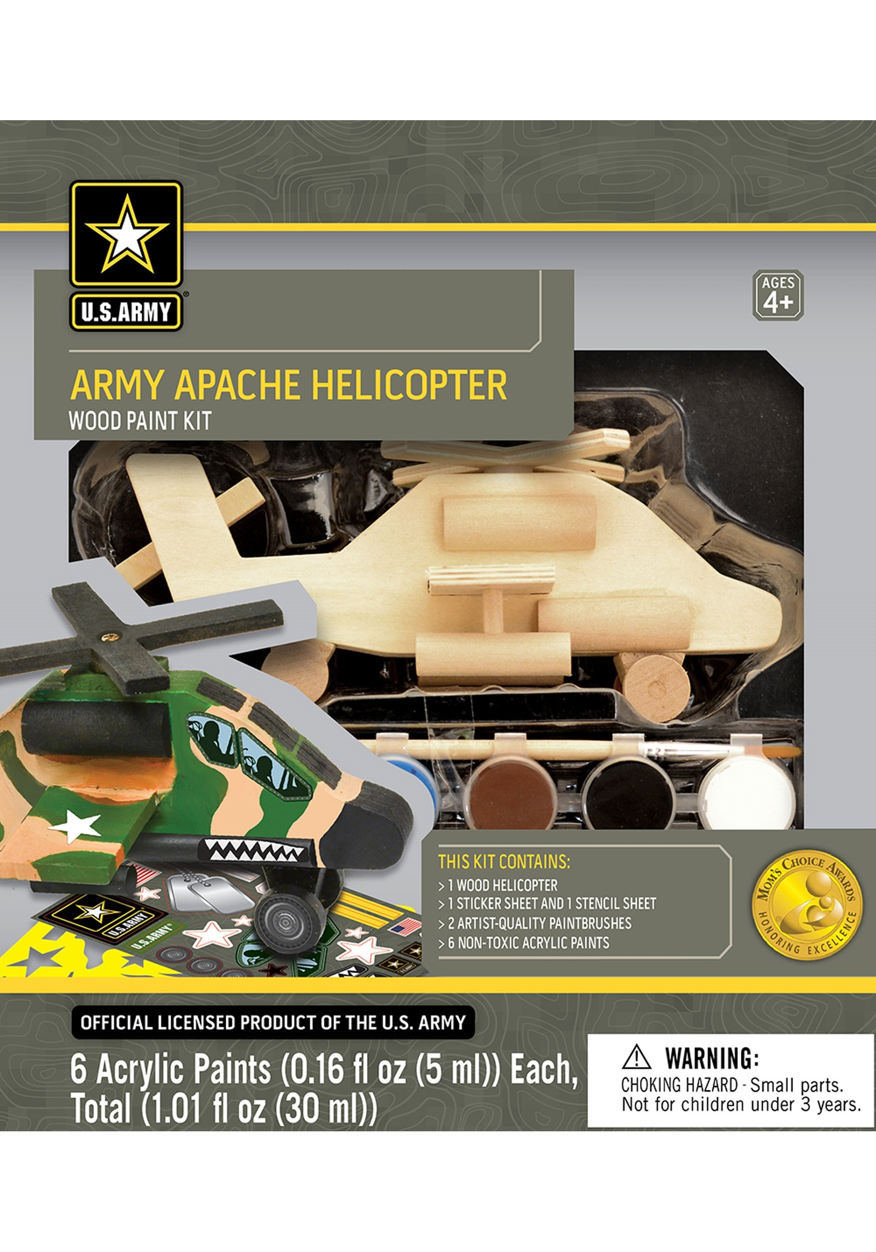 MasterPieces Works of Ahhh U.S. Army Apache Helicopter Paint Set